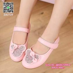 รองเท้าคัชชูเด็ก น่ารักฟรุ้งฟริ้ง ไซส์ 21-30 มีสายคาดหน้าเท้ากันหลุด รูปเล็กที่ 1