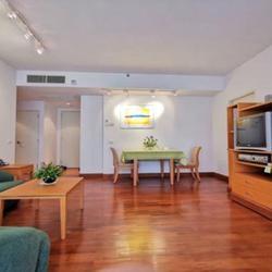 For Rent,bargain price,Langsuan Ville Condo near BTS Ratchadamri 77 sqm 1 bed รูปเล็กที่ 1