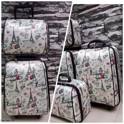 กระเป๋าเดินทางแบบผ้า เซ็ทคู่ 18/13 นิ้ว ลายหอไอเฟว รูปเล็กที่ 1