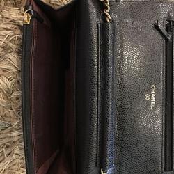 new chanel black caviar sarah wallet รูปเล็กที่ 2