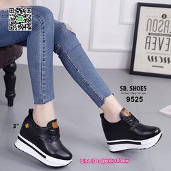 รองเท้าผ้าใบเสริมส้น 3 นิ้ว วัสดุหนัง pu คุณภาพดี  มีเชือกผู รูปเล็กที่ 1