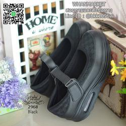 รองเท้าสุขภาพ ตัดเย็บด้วยผ้าตะข่ายและหนังพียูอย่างดี สายคาดแบบเมจิกเทป รูปเล็กที่ 1