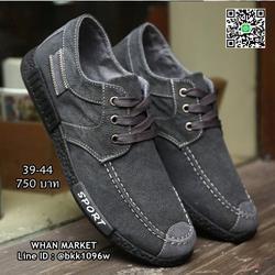 รองเท้าผ้าใบผู้ชาย แฟชั่นนำเข้า สไตล์สปอต วัสดุผ้าใบอย่างดี  รูปเล็กที่ 5