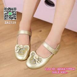 รองเท้าคัชชูเด็ก น่ารักฟรุ้งฟริ้ง ไซส์ 21-30 มีสายคาดหน้าเท้ากันหลุด รูปเล็กที่ 3