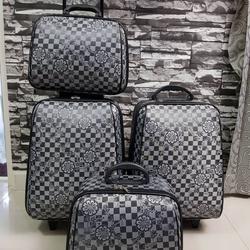 กระเป๋าเดินทางแบบผ้า เซ็ทคู่ 18/13 นิ้ว ลาย Gray/Black รูปเล็กที่ 4