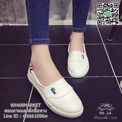 รองเท้าผ้าใบหนังนิ่ม สไตล์ลาคsอส ผ้าใบไร้เชือกสวมง่าย งานพียูนุ่มๆ น้ำหนักเบา รูปเล็กที่ 4
