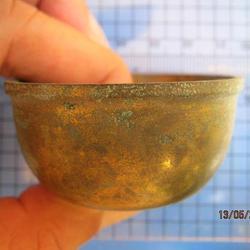 1982 ถ้วยทองเหลือง ความกว้างขนาด 2 นิ้ว สูง 1 นิ้ว ถ้วยทองเห รูปเล็กที่ 2