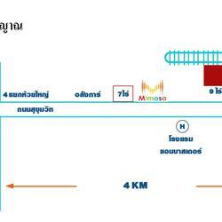 ขายที่ดินแปลง 9 ไร่ 58 ตารางวา หน้ากว้าง 66 ยาว 174 เมตร วัดญาณสังวรารามวรมหาวิหาร (พัทยา) ใก้ลมอเตอร์เวย์สร้างใหม่ รูปเล็กที่ 3