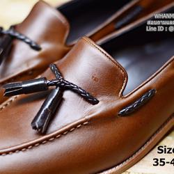 รองเท้าคัชชูหนังแท้  Tassel Loafer Plait interlace หนังวัว italy คุณภาพสูงสุด รูปเล็กที่ 3