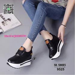 รองเท้าผ้าใบเสริมส้น 3 นิ้ว วัสดุหนัง pu คุณภาพดี  มีเชือกผู รูปเล็กที่ 2