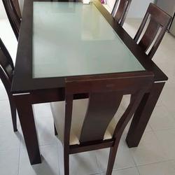 ชุดโต๊ะ พร้อมเก้าอี้ 6 ที่นั่ง  ขนาดโต๊ะ 165x90 cm. รูปเล็กที่ 4
