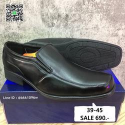 รองเท้าคัชชูสีดำ แฟชั่นผู้ชาย วัสดุหนังPU อย่างดี แบบสวม รูปเล็กที่ 1