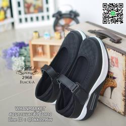 รองเท้าสุขภาพ ตัดเย็บด้วยผ้าตะข่ายและหนังพียูอย่างดี สายคาดแบบเมจิกเทป รูปเล็กที่ 2