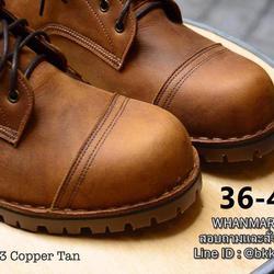 รองเท้าบูทหนังแท้ วัสดุหนังแท้ ขนาด 2 mm. หนา ทน ถึก ใช้ลืม รูปเล็กที่ 3
