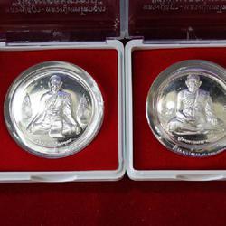 เหรียญเงินแท้รูปหน้าหลวงปู่สุภาหลังรูปหลวงปู่เทพฯ ปี2550 รูปเล็กที่ 1