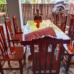 โต๊ะอาหาร ก80xย180+เก้าอี้ 8  ตัว  รูปเล็กที่ 2