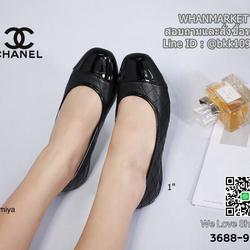รองเท้าคัชชู งานสไตล์ Chanel งานหนังนิ่ม ส้นสูง 1 นิ้ว รูปเล็กที่ 1