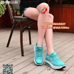 รองเท้าผ้าใบ แบบเสริมส้น 1.5 นิ้ว วัสดุผ้าทอ มีรูผ้าระบาย รูปเล็กที่ 6