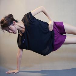 ชุดออกกำลังกายผู้หญิง เสื้อกีฬาผู้หญิง ใส่สบาย ระบายความร้อนได้ดี (สีดำ) รูปเล็กที่ 5