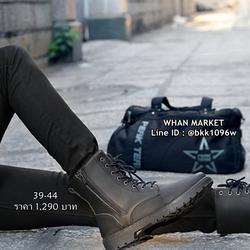 รองเท้าบูทผู้ชาย แฟชั่นนำเข้า วัสดุหนังPUคุณภาพดี มีซิปข้าง  รูปเล็กที่ 3