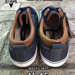 รองเท้าผ้าใบหนังผู้ชาย แบบผูกเชือก วัสดุหนังPUคุณภาพดี รูปเล็กที่ 4