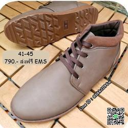 รองเท้าบูทหุ้มข้อแฟชั่นผู้ชาย วัสดุหนังPU คุณภาพดี มีเชือกผู รูปเล็กที่ 3