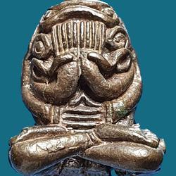 พระปิดตาอุตตโมยันต์ยุ่ง หลวงปู่ทิม วัดละหารไร่ เนื้อนวโลหะ ปี ๒๕๑๘ ตอกโค้ต นะ รูปเล็กที่ 1