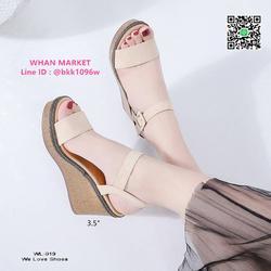 รองเท้าส้นเตารีด สูง 3.5 นิ้ว ผ้าสักหลาด สวมใส่ง่ายด้วยตะขอเ รูปเล็กที่ 5