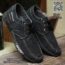 รองเท้าผ้าใบผู้ชาย แฟชั่นนำเข้า สไตล์สปอต วัสดุผ้าใบอย่างดี  รูปเล็กที่ 1